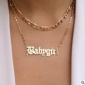 🆕 💛HP💛Babygirl Pendant Necklace
